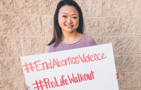 #ProLifeWalkout at 350 US high schools to protest abortion