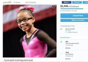 Morgan Hurd GoFundMe page for travel and expenses for gymnastics