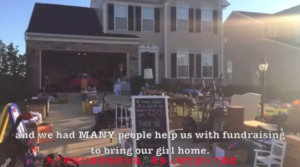 yard sale to raise funds for adoption from China