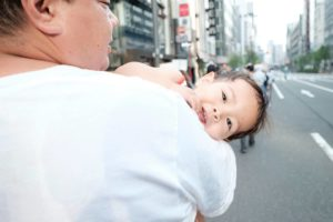 Japan March for Life 2018 dad holding baby