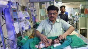 BBC photo from Dr Ravi Khanna who treated baby Sita
